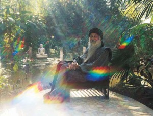 Osho in his garden 1